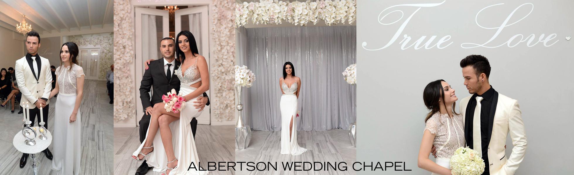 contact us at Albertson wedding chapel