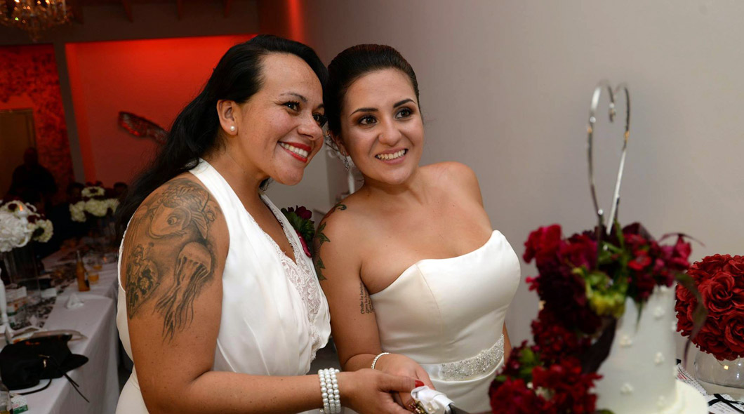 wedding reception at Albertson Wedding Chapel