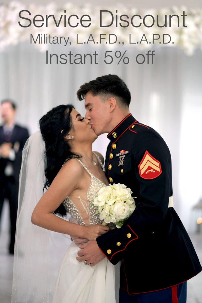military discount at Albertson Wedding Chapel in Los Angeles