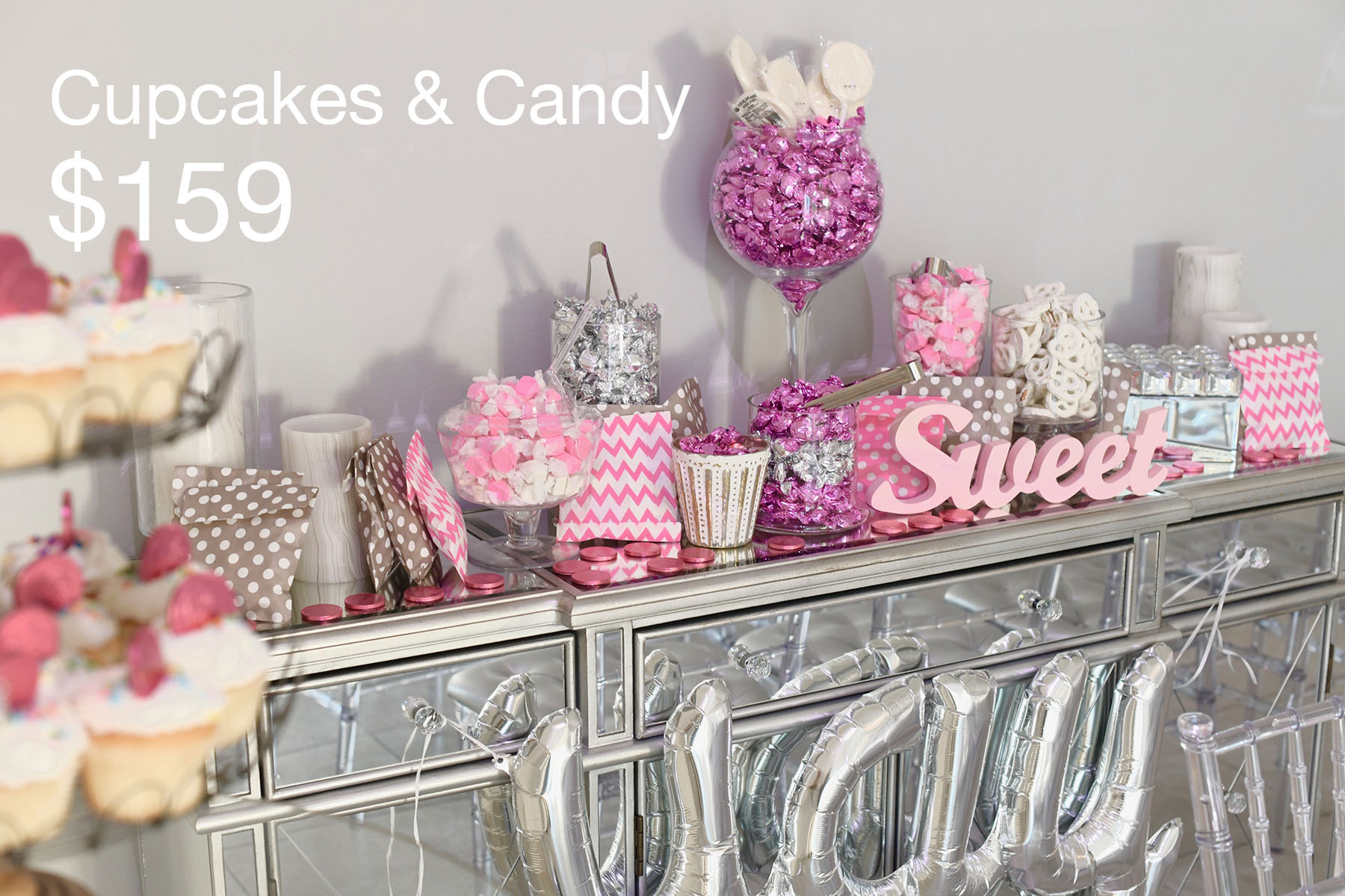 candy stations for a civil wedding