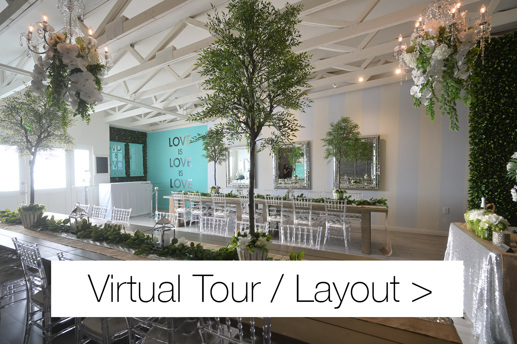 wedding recpetions virtual tour link