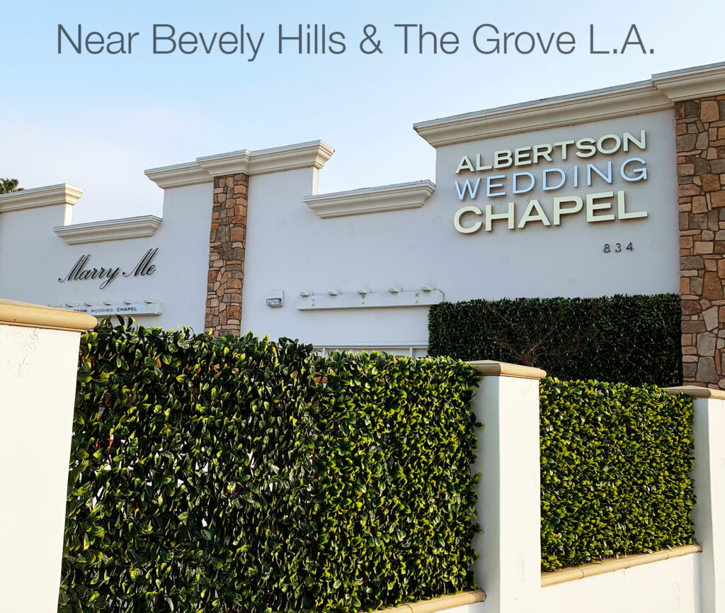 Albetson Wedding Chapel in Los Angeles on La brea Ave 90036