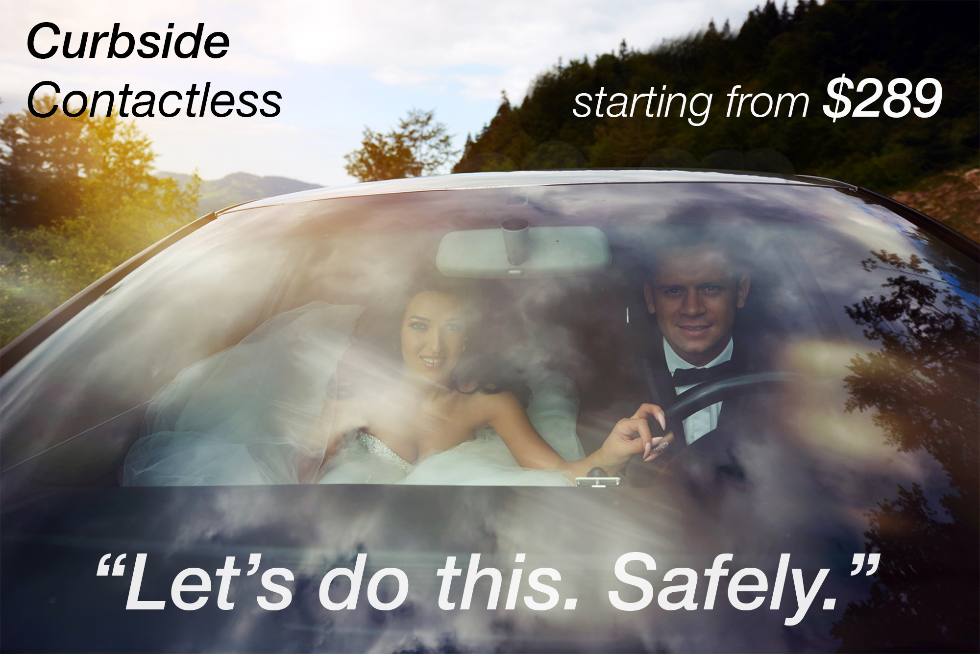 albertson contacless curbside weddings fast