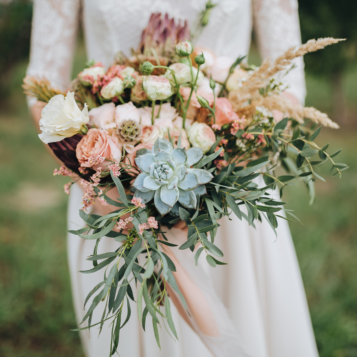 curbside travel wedding bouquet